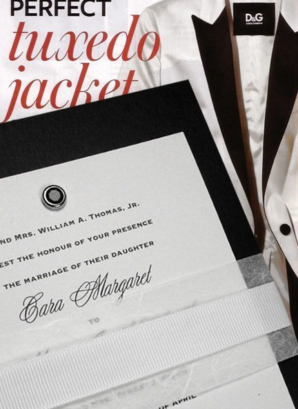 Fabulous Black and White Tuxedo-Inspired Wedding Invitations