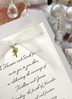 cream and lace invitations