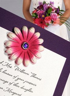 wedding invitations with paper flowers