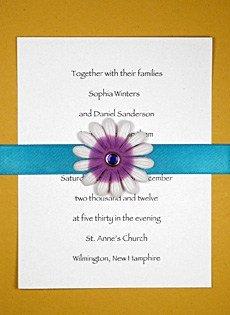 diy flower invitation