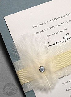 navy and lace invitations