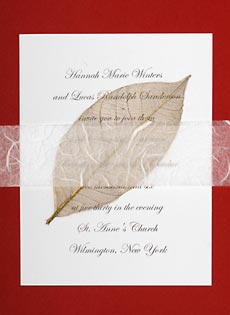 wedding invitations with leaves