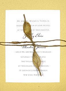 wedding invitations with lokta cord