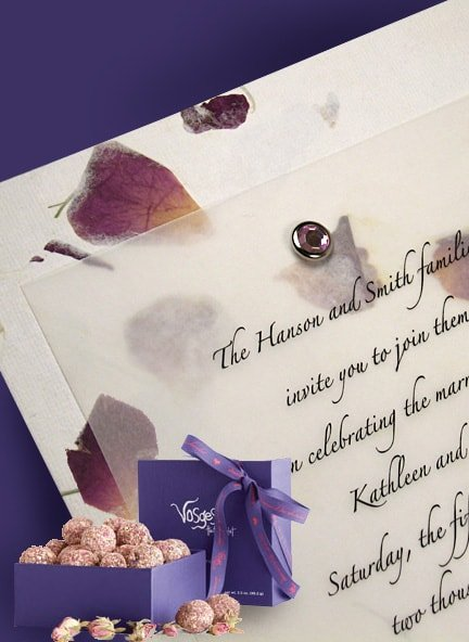 rose petal invitations