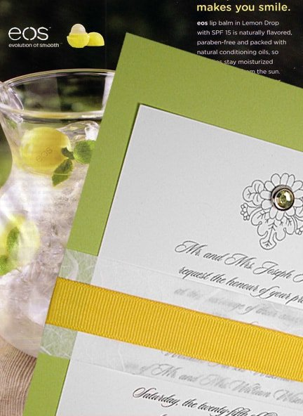 Fresh Pear Green Wedding Invitation Idea with Unryu, and Ribbon Band
