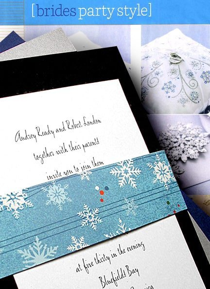 diy snowflake invitation