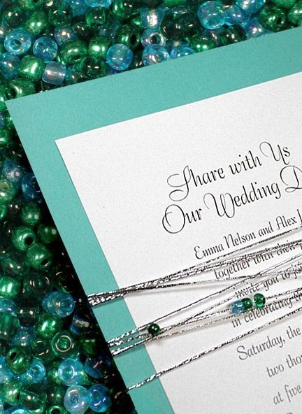 New Glam Wedding Invitations with Beads from Formal-Invitations.com 98¢