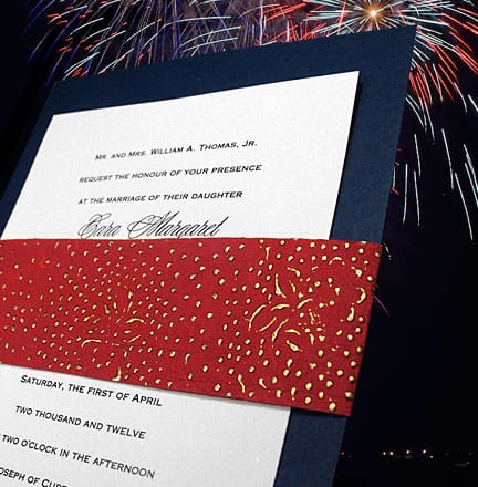 Beautiful Navy and Red Patriotic Wedding Invitations 94¢