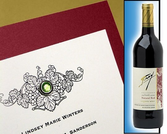Wine Inspired Wedding Invitations