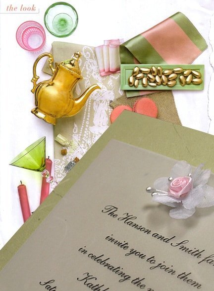Romantic Wedding Invitations with Silk Flower Embellshment