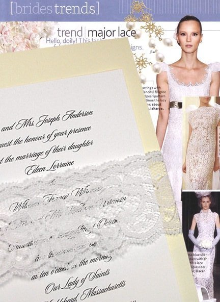 Romantic Vanilla Cream Wedding Invitations with Floral Lace $1.02