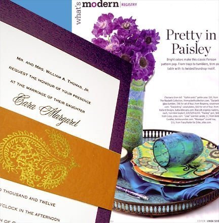 Pretty Paisley Wedding Invitations