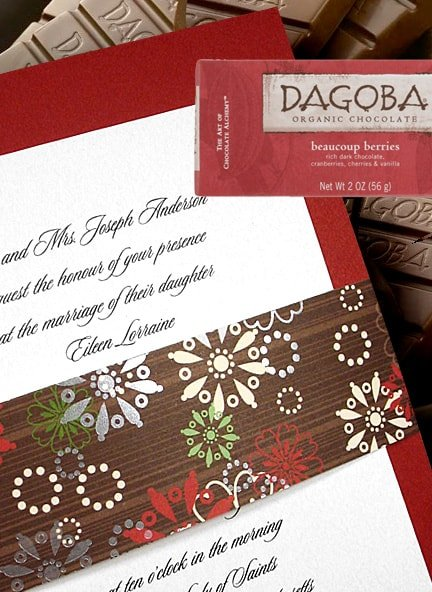 Stylish Red and Chocolate Brown Wedding Invitations 98¢