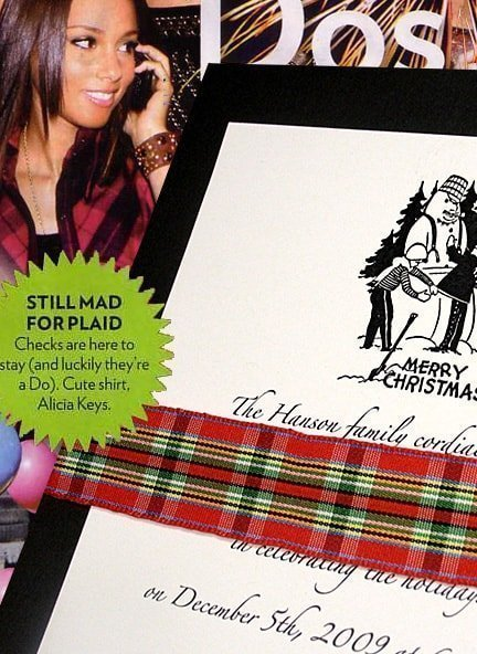 Fashion-Forward Black and Red Plaid Wedding Invitations $1.02