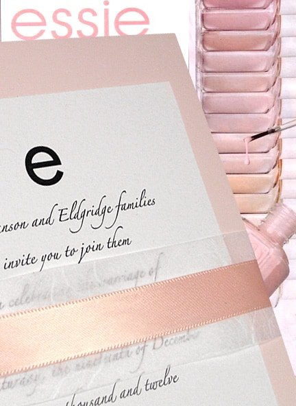 Magnifique Pale Pink Wedding Invitations with Unryu and Satin Bands 94¢