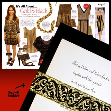 Gold and Black Wedding Invitation Inspiration