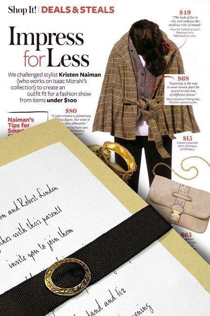 Impressive Belted Wedding Invitations for Less