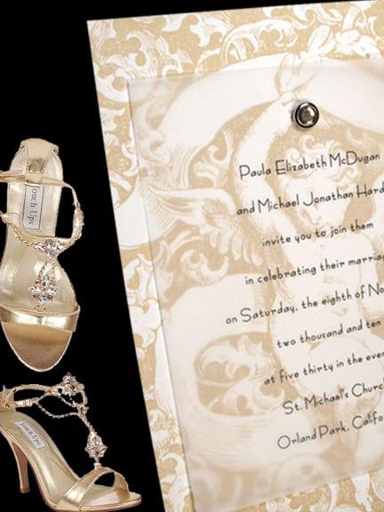 Romantic Cherub Wedding Invitations with Crystal Brad 86¢