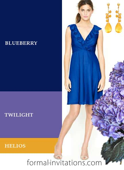 Fresh Summer Wedding Color Ideas in Blueberry, Lavender and Yellow