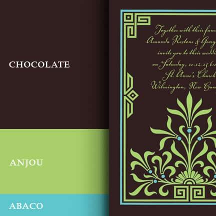 Wedding Colors In Dark Brown Pear Green And Aqua
