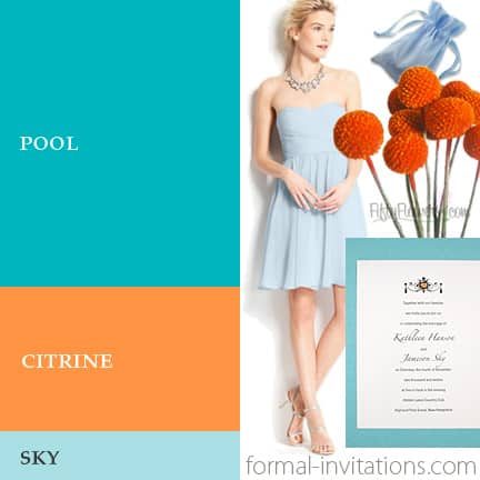 Summer Wedding Colors: Pool, Citrine and Sky