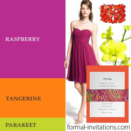 Raspberry, Tangerine and Parakeet for a Fresh Summer Wedding Colors