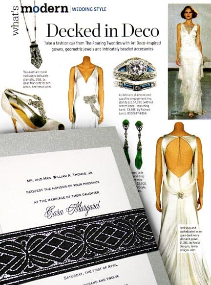 Fabulous Deco-Inspired Silver Wedding Invitation Idea