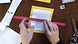 how to make invitations with ribbons