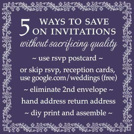 Top 5 ways to save on your wedding invitations