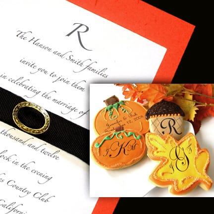 Sophistiated Orange and Black Wedding Invitations $1.02