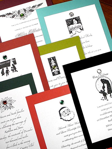 New Luxurious Holiday Invitation Kits with Crystal Brads 66¢