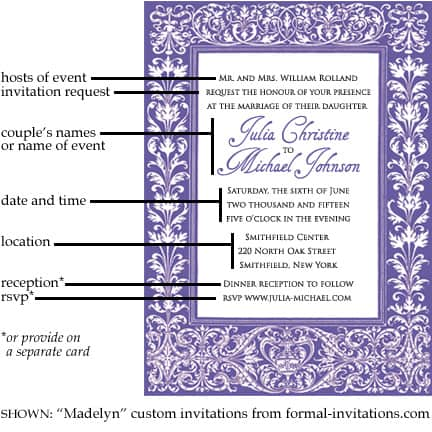Wedding and event invitation text tips formal invitations stopboris Gallery