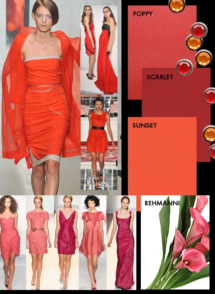 New York Fashion Week Color Trends – Scarlet, Poppy Red and Sunset Orange