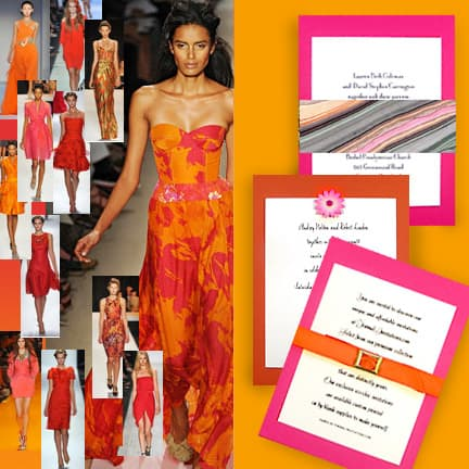 NY Fashion Week: Pink and Orange Trend