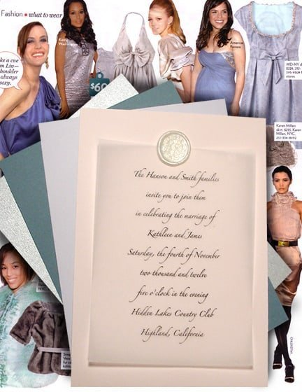 Cool Winter Pastel Wedding Invitations