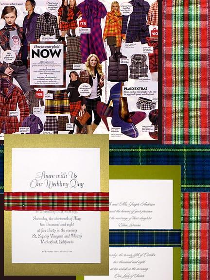 mad about plaid invitations formal invitations com