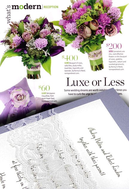 Luxe Lavender Wedding Invitations for Less