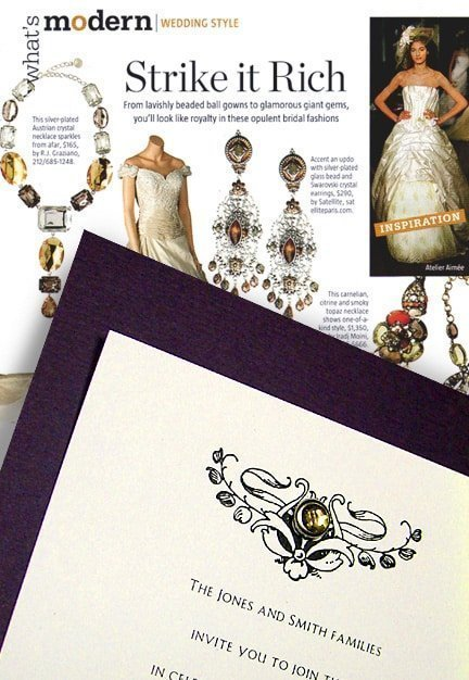Rich Wedding Invitations for a Low Price