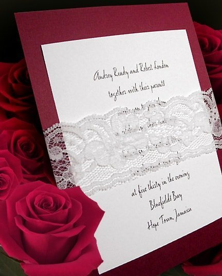 Wedding Invitations with Lace for the Truly Romantic