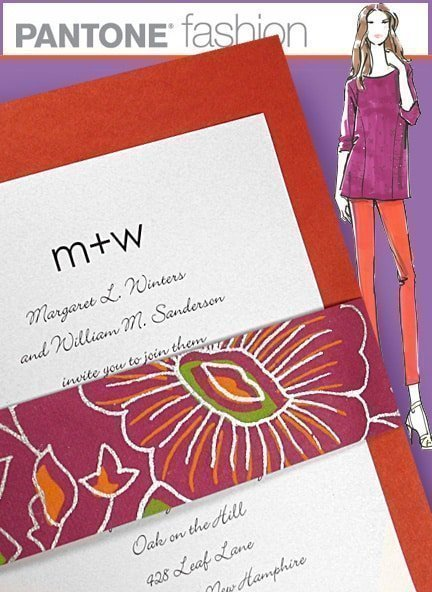 Tangerine Tango (Color of the Year) Inspired Wedding Invitations