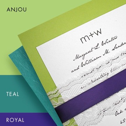 Fall Wedding Color Ideas – Pear Green, Teal and Purple