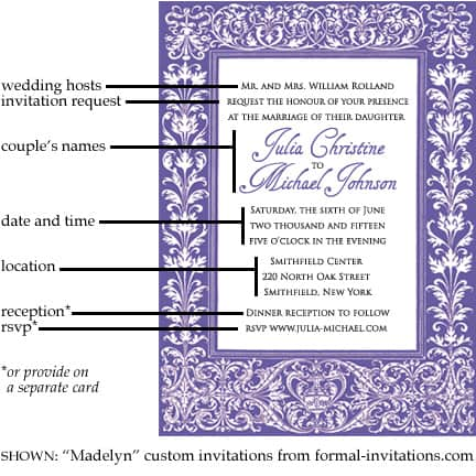 Wedding invitation wording and etiquette formal invitations wedding invitation wording stopboris Choice Image